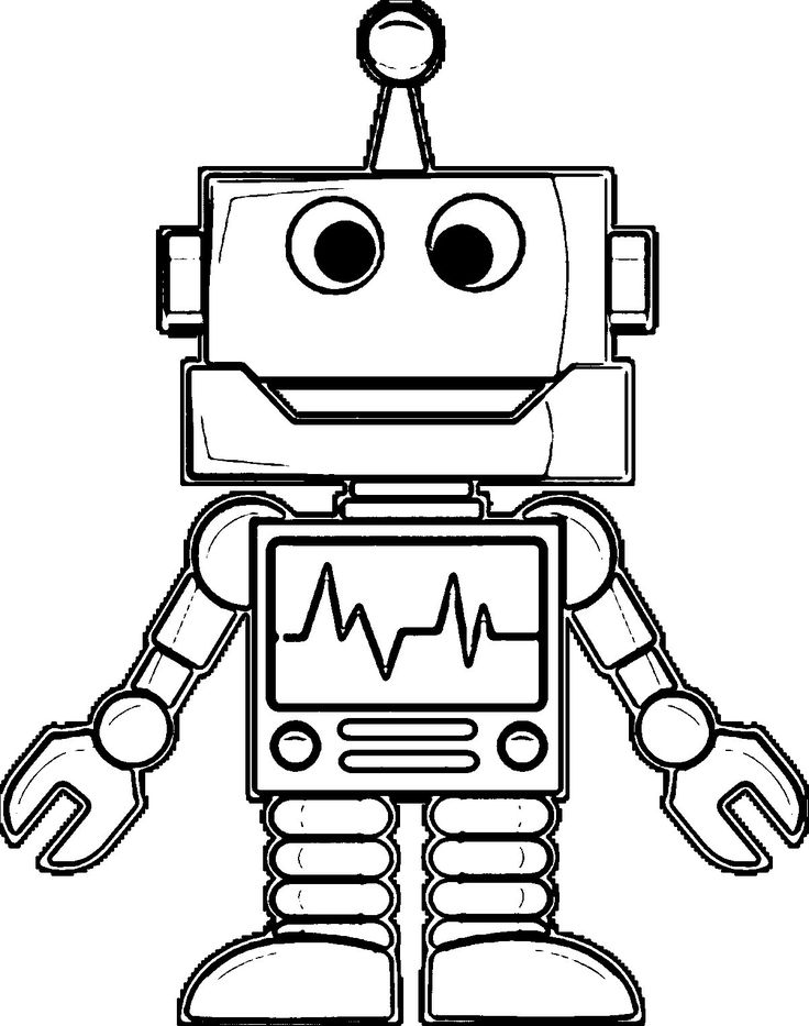 Pin by Kelsey Huber on Coloring Pages | Robots drawing ...