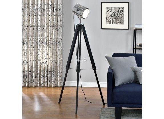 Staande lamp Photo. Staande lamp Photo is een lamp voor binnen in huis of op kantoor met een uniek design. De Photo staat op een stevige driepoot en heeft een lampenkap die doet denken aan een schijnwerper. Wordt geleverd exclusief lichtbron.