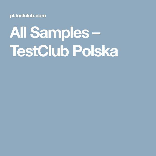 All Samples – TestClub Polska