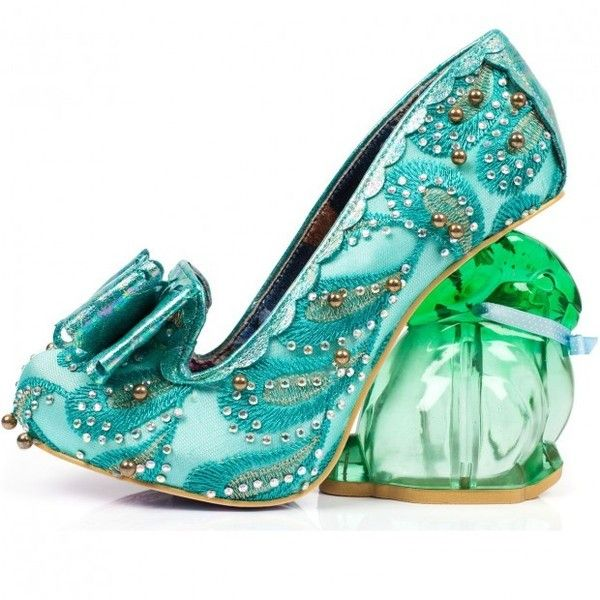 Irregular Choice 'Hoppity mint green, quirky bunny pump ❤ liked on Polyvore featuring shoes, pumps, mint pumps, mint green shoes, heel pump, bunny shoes and irregular choice footwear