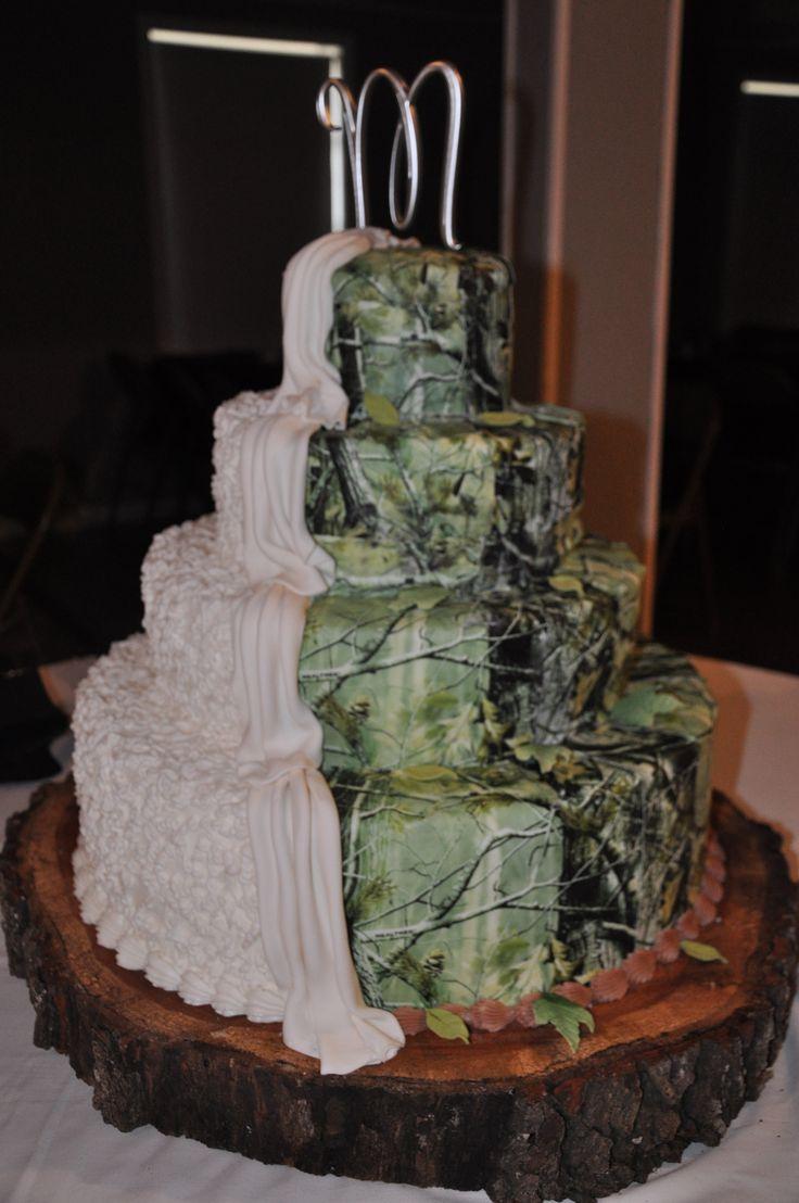 Camo wedding cake? Wow!