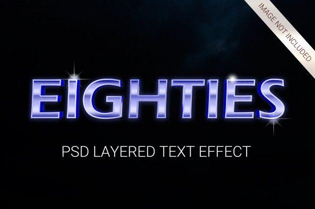 Psd science fiction futuristic 80s layered text effect Premium Psd | Premium Psd #Freepik #psd #abstract #technology #computer