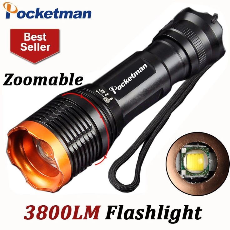 Contemporary Brand Name POCKETMAN Lighting Distance m Support Dimmer files Lumen 3800 Waterproof Yes Flashlight Type camp lampe torche linternas Zaklamp Picture - Latest best tactical flashlight Modern