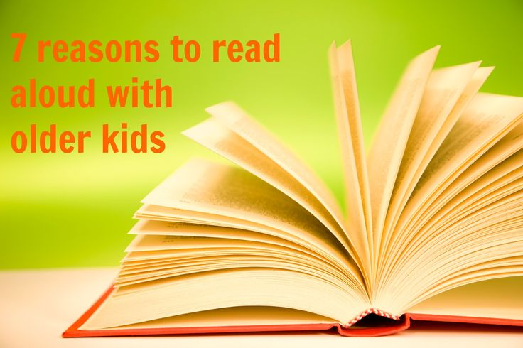 Reading at bedtime is common for those with little kids, but just because kids are older doesn't mean reading aloud should stop. Reading aloud has many benefits are for your child, regardless of age!
