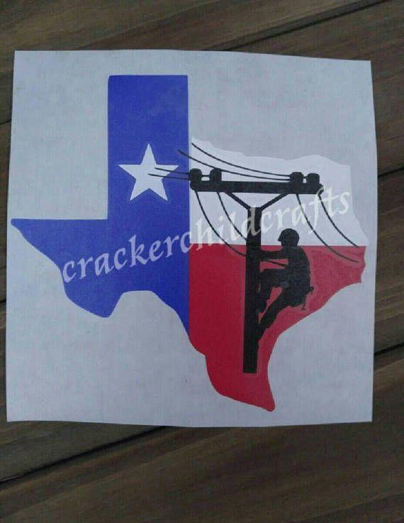 Texas lineman decal