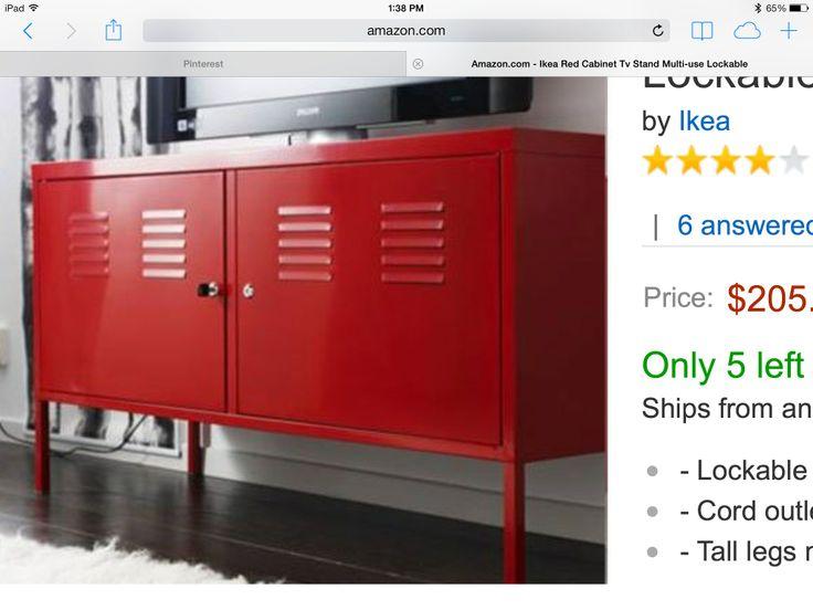 Ikea Red Locker Console