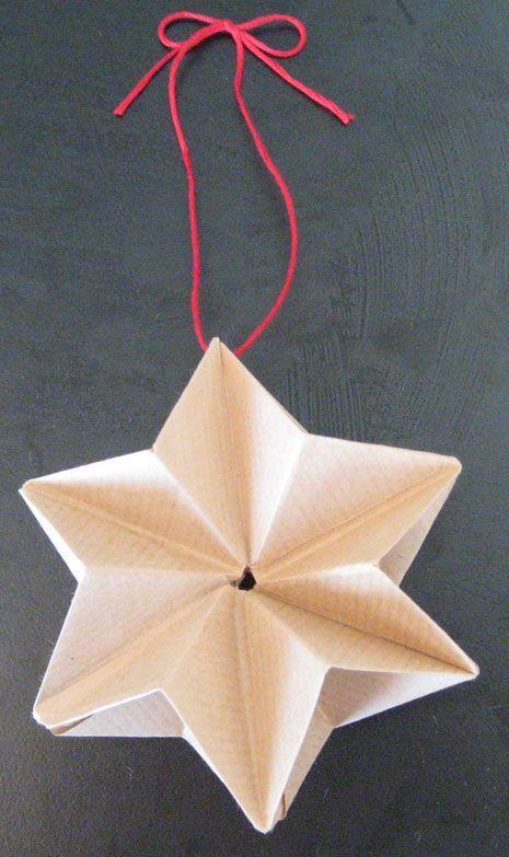 Origami-Star aus sechs Papier-Quadraten - Idee von Morgan Webber, erklärt von Rohini Wahi