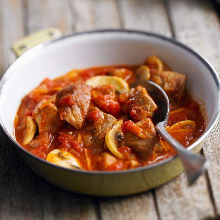 Découvrez la recette du sauté de veau marengo