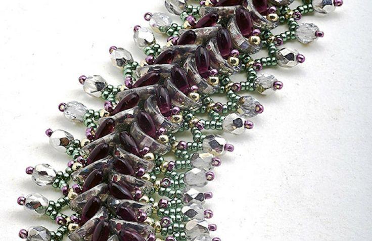 ... (Translate). #Seed #Bead #Tutorials | 2-hole bead ideas | Pinterest