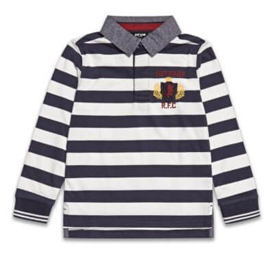 Boys Boutique Blue & White Stripe Rugby Shirt - Baby Boutique Shop #boys_clothes & #boys_fashion #rugby