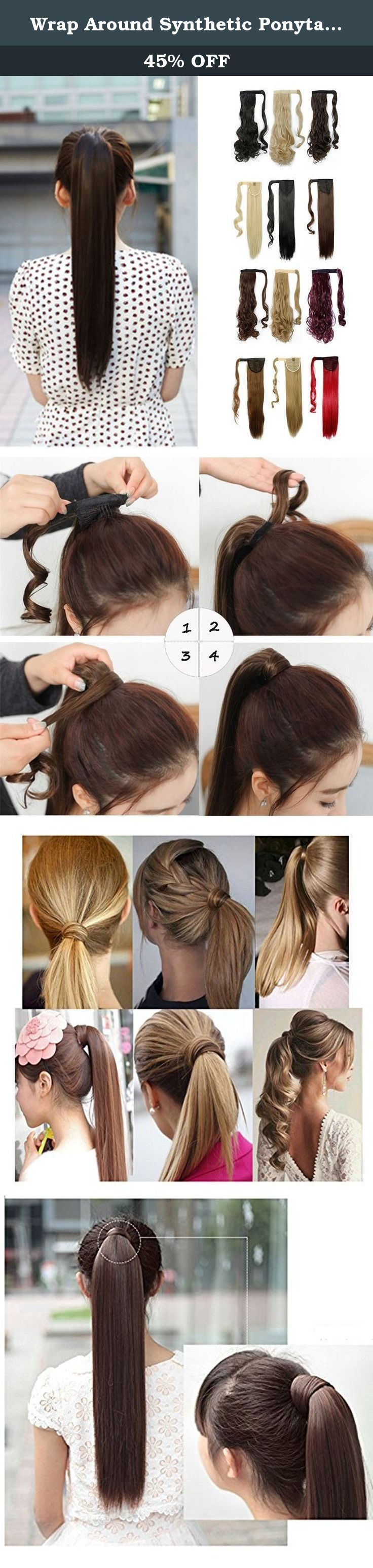 Wrap Around Synthetic Ponytail One Piece Heat Resistant Magic Paste Pony Tail Long Straight Soft Silky for Women Lady Girls 23'' / 23 inch (dark brown). Product information Materials: Kanekalon Fiber from Japan(also known as KK wire) Length: 23inch without stretching Suitable Occasions: daily use,Halloween,cosplay,club,concerts,costume,theme parties,bachelorette party,weddings,dating,conventions,masquerades,prom,evening out,carnival,April Fool's Day and any other occasions. Also will be…
