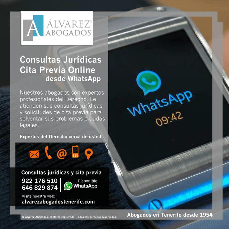 Solicite cita previa o realice su consulta jurídica con nuestros #abogados en #Tenerife por #WhatsApp. Cerca de usted, la mejor opción. https://alvarezabogadostenerife.com/?p=5430