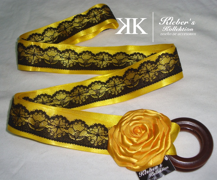 lace and satin belt