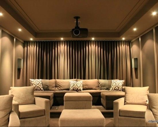 Idea For Curtains In Media Room Just Put Across Entire Wall