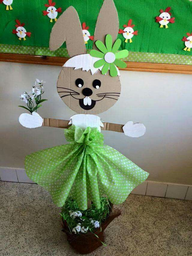 Cardboard bunny. Clever