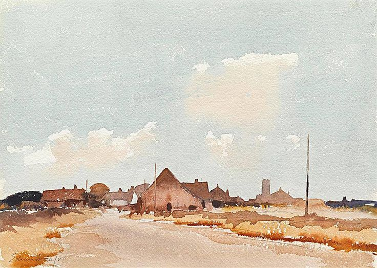Edward Seago . watercolour.