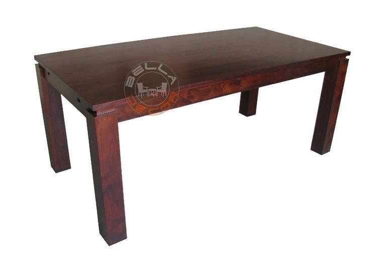 METRO indyjski stół drewniany 140
