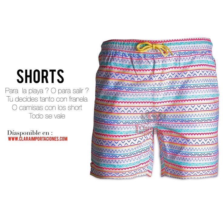 Shorts : Para  la playa ? O para salir ? Tu decides tanto con franela O camisas con los short Todo se vale ....www.claraimportaciones.com