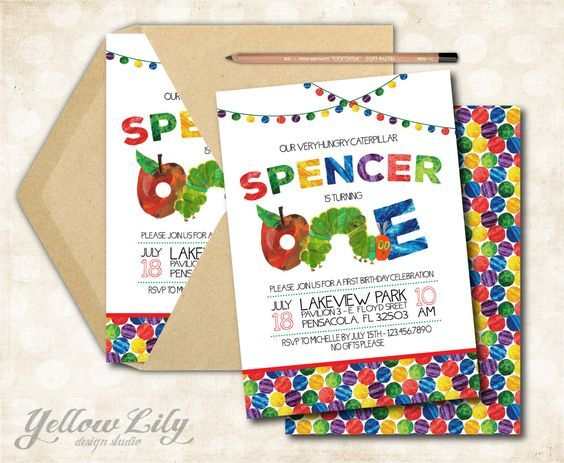 Very Hungry Caterpillar Birthday Invitation - DIY Party Printable / First Birthday / Hungry Caterpillar /