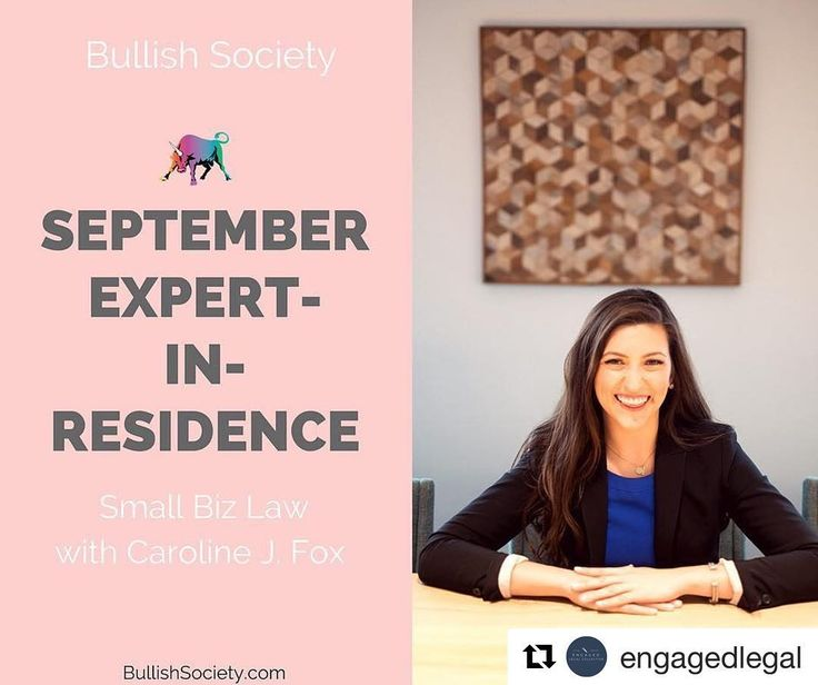 #Repost @engagedlegal (@get_repost)・・・HAPPY SEPTEMBER!I am so excited to share that I'll be the Expert-In-Residence 👩🏻⚖️ for @getbullish the month of September.  How fitting, being it's my birthday month! 🎉 I'm going to be leading some awesome daily challenges 💪🏻 to help get your small biz legal work organized (or, if you're thinking about starting a biz, we'll get your wheels turning....) and publishing some articles about the law around small businesses.  The