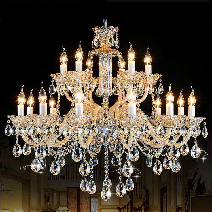 Romeinse Luxe kroonluchter moderne kristallen kroonluchter 18 lights witte kaars kroonluchter antieke woonkamer Hotel villa kroonluchter(China (Mainland))