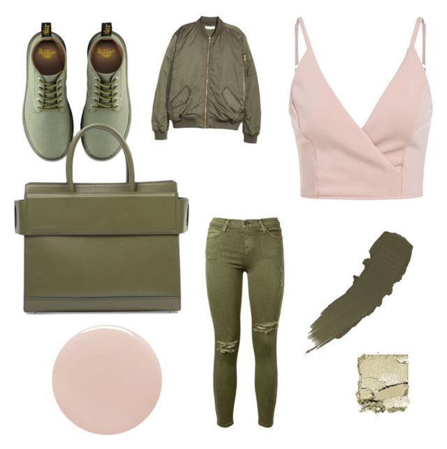 Khaki and beige by tiffany-facebook on Polyvore featuring polyvore, fashion, style, H&M, Dr. Martens, Givenchy, Surratt, Tom Ford, Current/Elliott and clothing