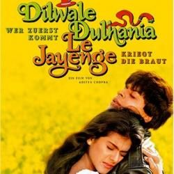 Raj and Simran - Timeless romance. (THE longest running movie in Bollywood history!)