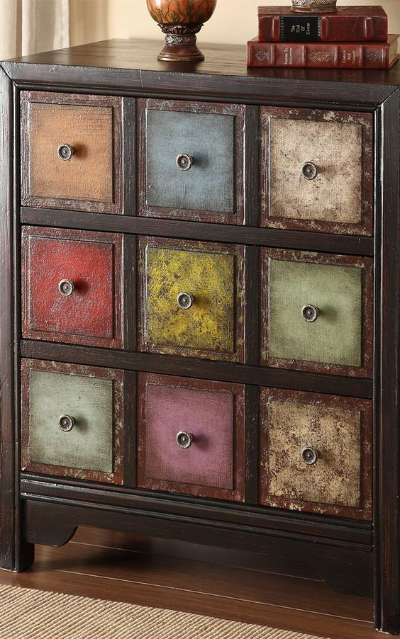 Image result for multi colored dresser