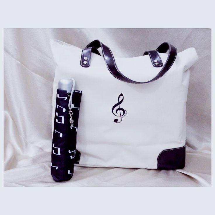 G Clef Bag & Notes Folded Umbrella Follow Instagram : pentatonicmusic