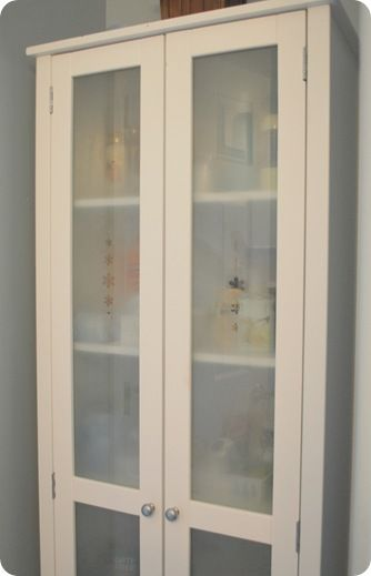 DIY frosted glass
