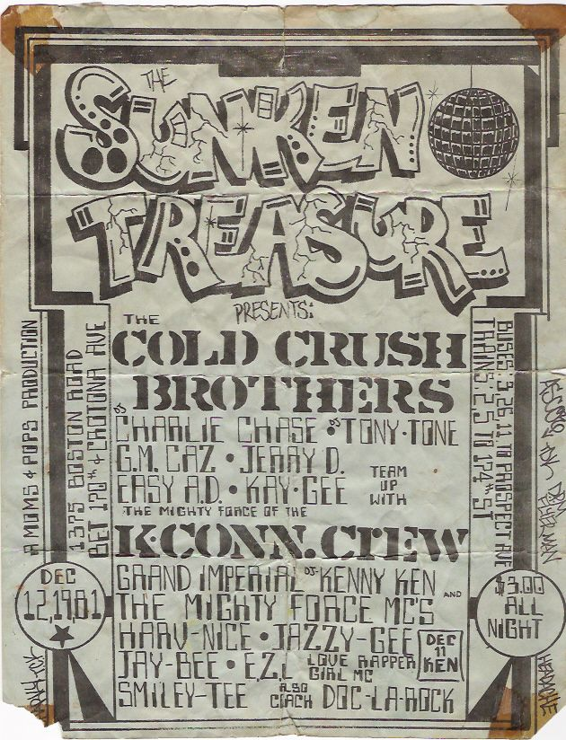 Cold Crush Brothers | Old School Party Flyer | Dec 1981