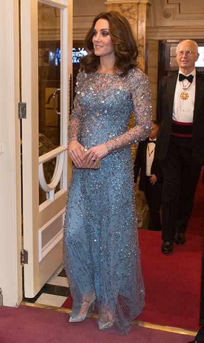 64127fae019 Duchess Kate channels Queen Elsa in stunning ice blue creation ...