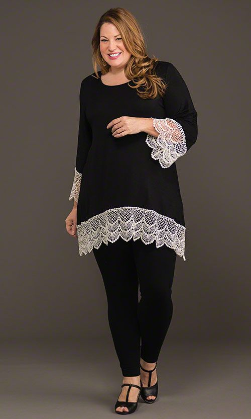 Lafayette Lace Tunic & Leggings / MiB Plus Size Fashion for Women / Fall Fashion http://www.makingitbig.com/product/4927