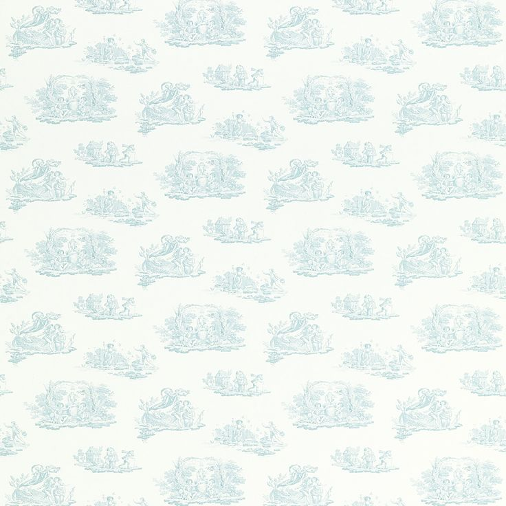 Laura Ashley Toile Topaz Green Patterned Wallpaper