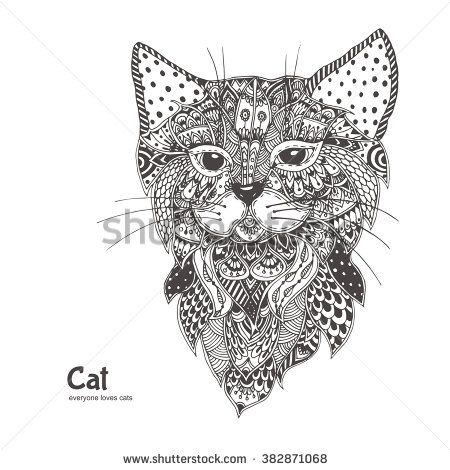 69 best Cats to color images on Pinterest | Coloring books, Adult ...