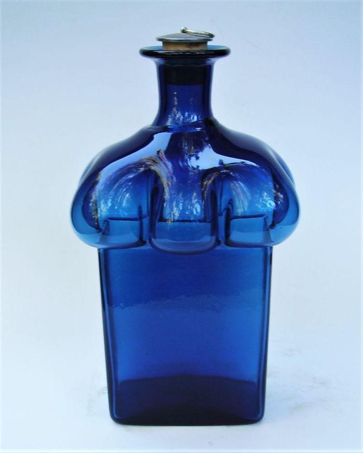 VINTAGE BERTIL VALLIEN BODA AFORS SWEDEN BLUE SERIES ART GLASS BOTTLE w STOPPER    eBay