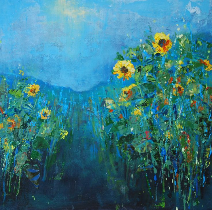 Sunflowers. Mixed media. www.annaperlin.com