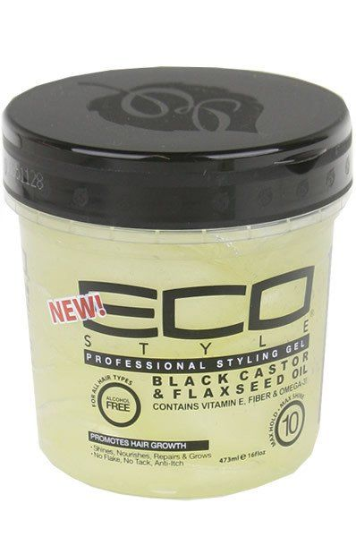Eco Styler Styling Gel – Black Castor & Flaxseed Oil 16oz