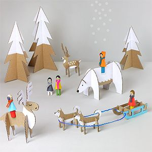 New on Mr P : Cardboard Winter Wonderland