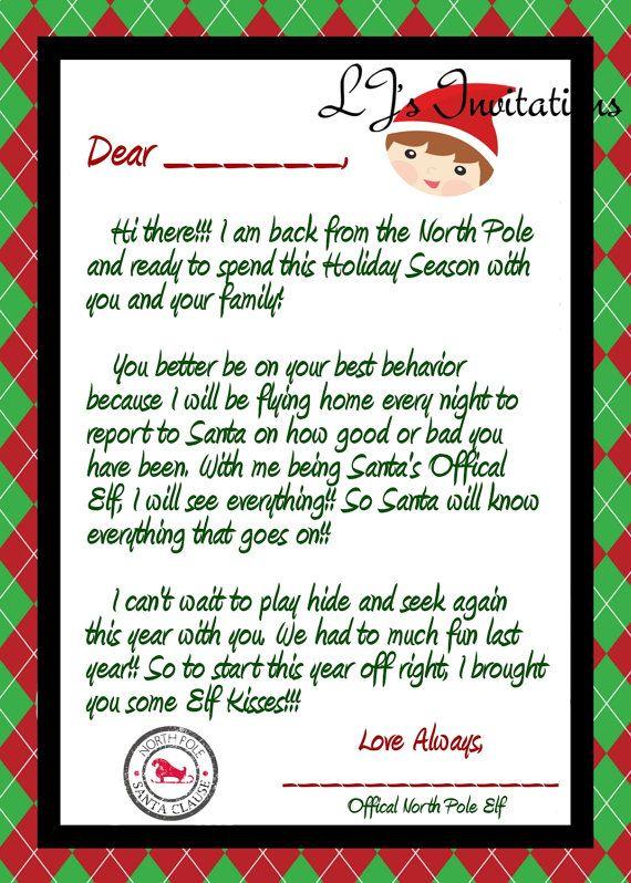Elf On The Shelf Welcome Back Letter Printable.Elf Boy Inspired Elf Coming Back Letter Elf Letters Elf