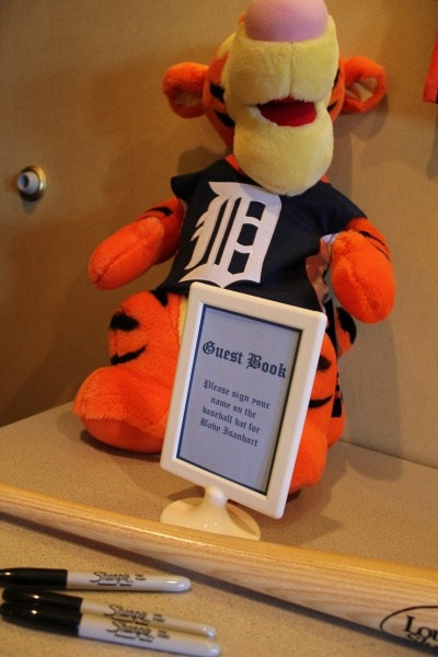 Detroit Tigers Tigger- baby shower guest book