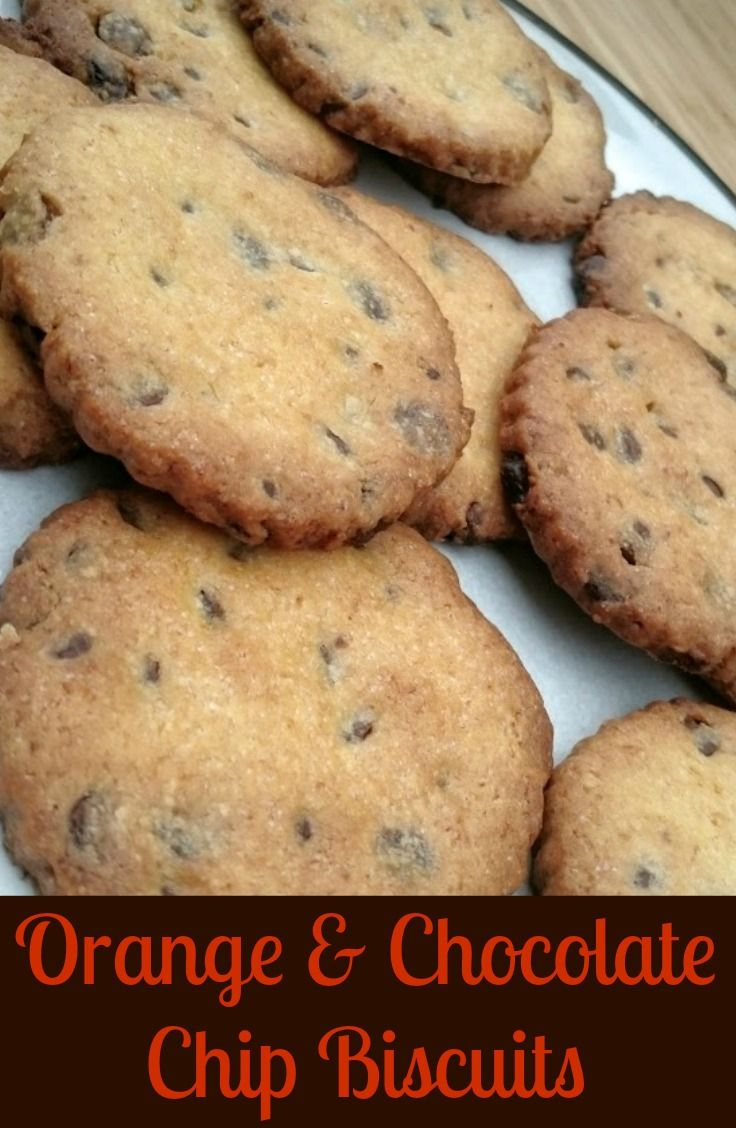 Orange and Chocolate Chip Biscuits. So easy to make, and I'm now finding myself to be a little bit addicted to them! Yummy cookies!