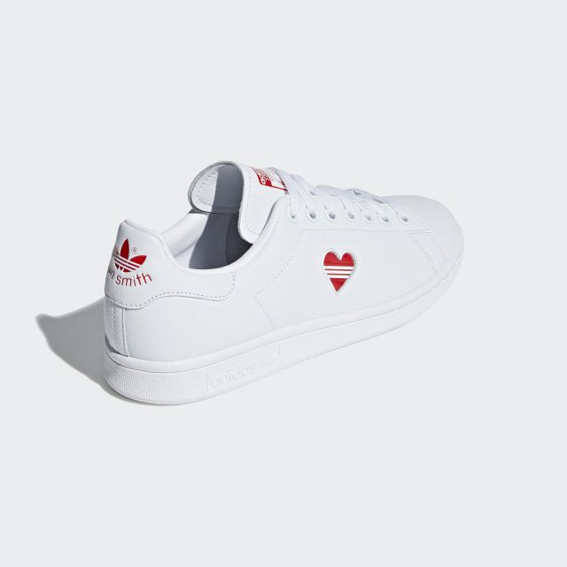 Stan Smith Shoes Cloud White / Active Red / Cloud White ...