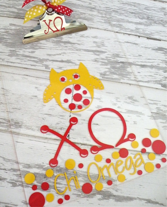 craft a clipboard: Fun Clipboards, Chi O' Clipboards, Clipboards Ideas, Adorable Clipboards, Omega Clipboards, Clear Clipboards, Owl Clipboards, Hoothoot