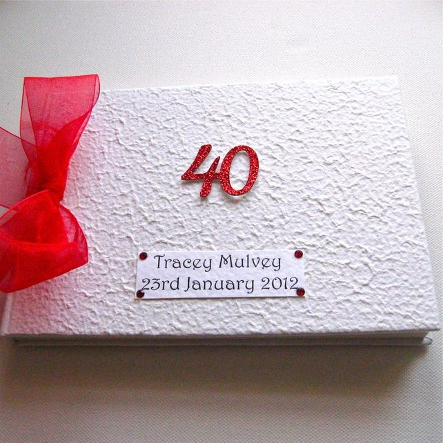 results for guest book for 40th birthday party