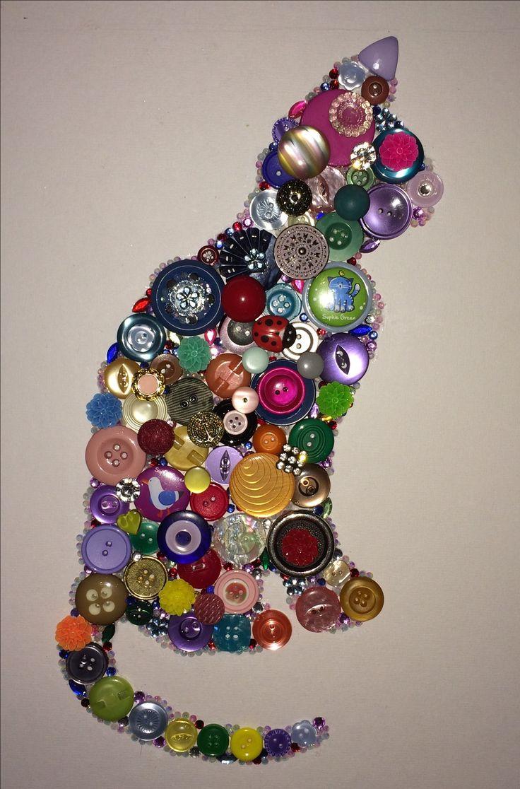 decorando perfil de gato en botones Más - My Crafts Your Crafts