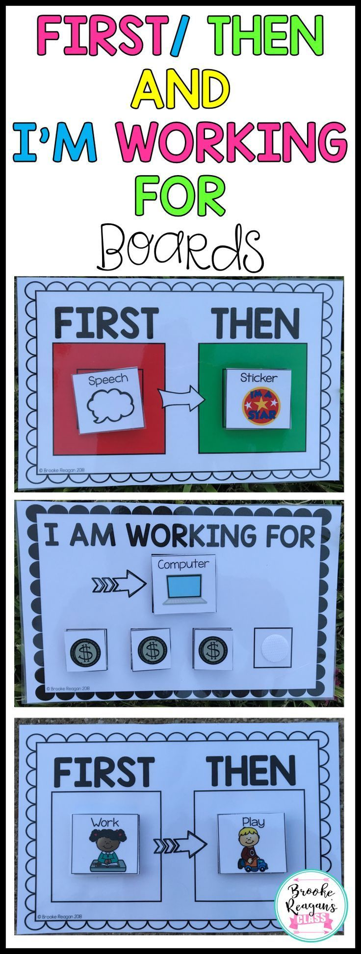 First/ Then and I am Working for Boards for Particular Schooling