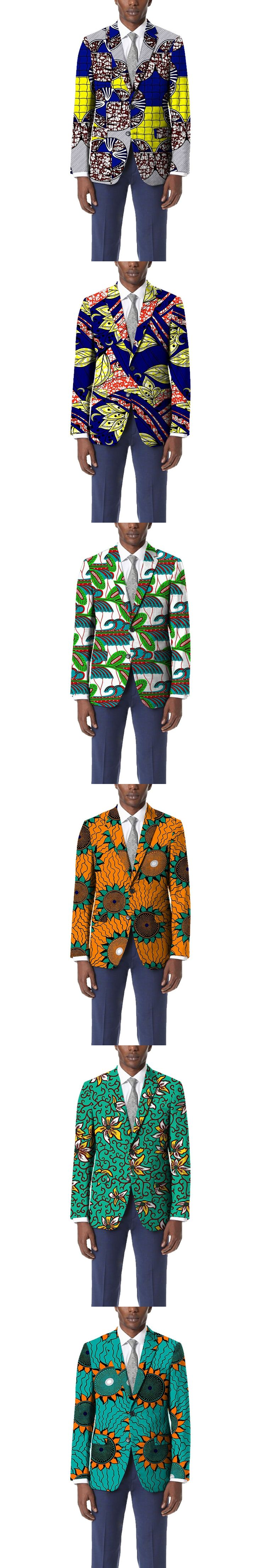 Personal tailor dashiki suit african garish colors print blazer mens limited pattern african suit of africa clothing for wedding