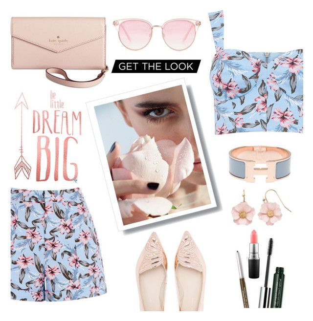 """""""Untitled #39"""" by modabeauty ❤ liked on Polyvore featuring Le Specs, Sophia Webster, Hermès, Clinique, MAC Cosmetics, LC Lauren Conrad and Kate Spade"""
