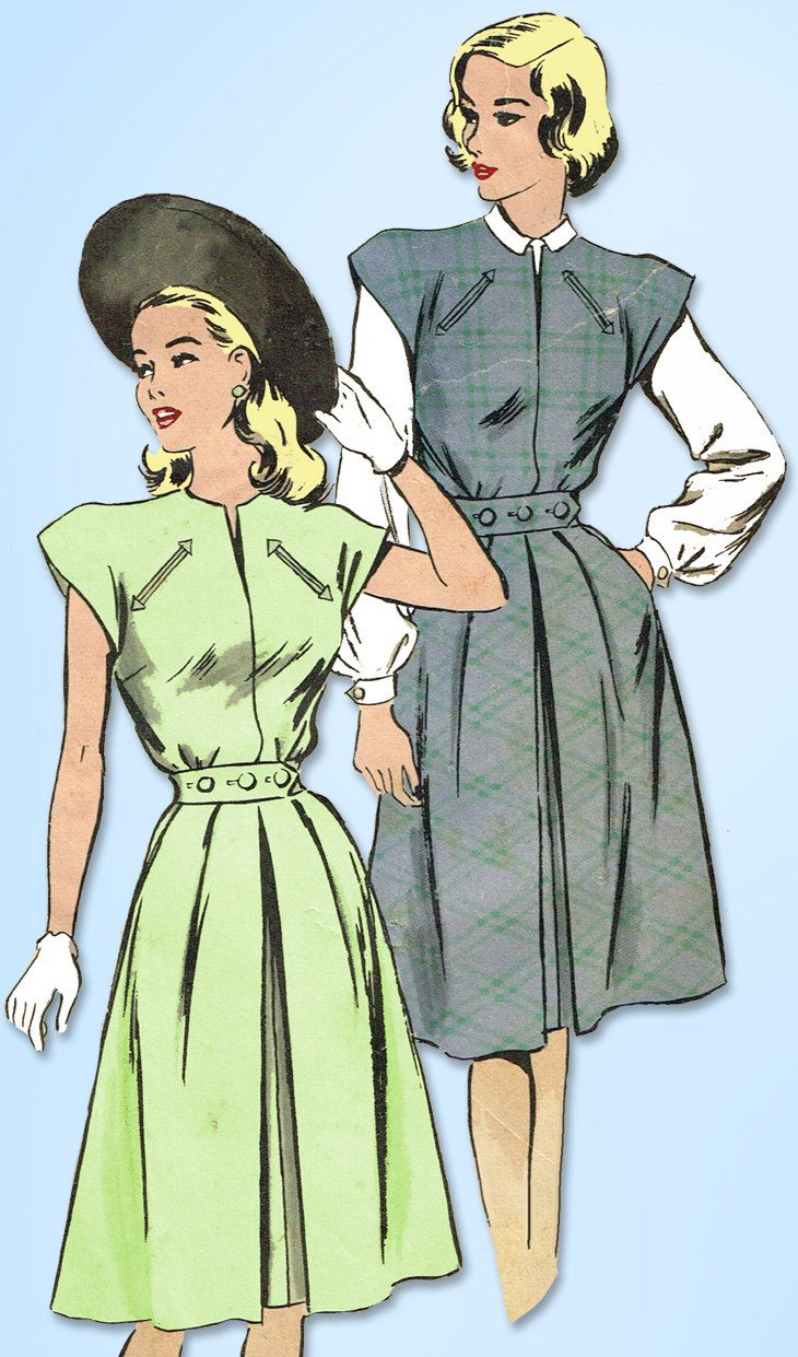 Excited To Share The Latest Addition To My Etsy Shop 1940s Vintage Hollywood Sewing Pattern 1880 Wwii M Vintage Sewing Vintage Dress Patterns Sewing Patterns